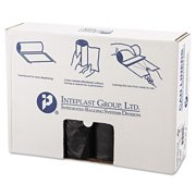 Inteplast Group High-Density Can Liners, 45 Gallon, Black, 25 count, (Pack of 10)