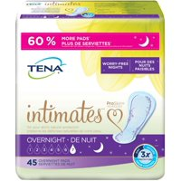 TENA Incontinence Pads for Women, Overnight, 45 Ct