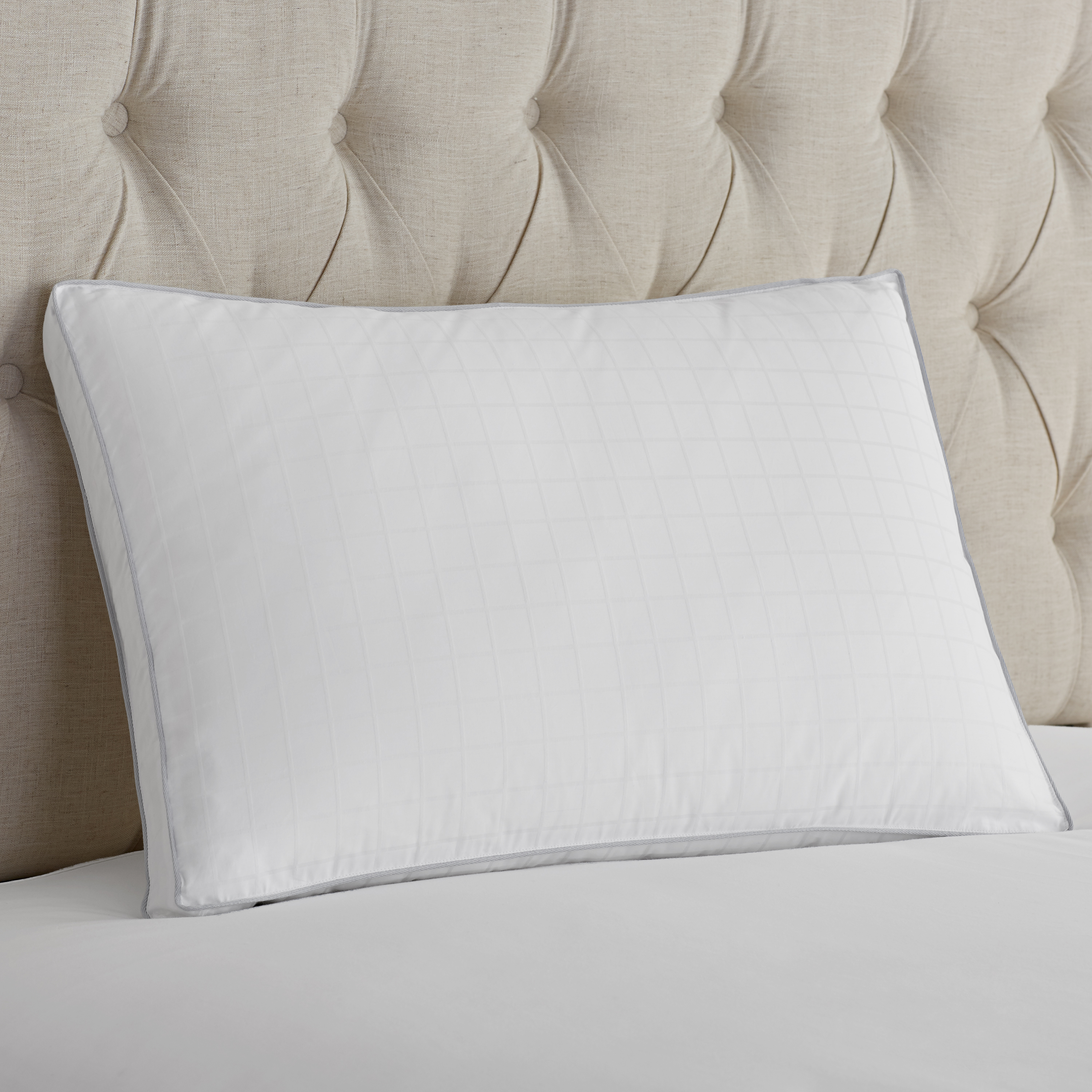 Hotel Style Natural Down 350-Thread Count Pillow, Medium