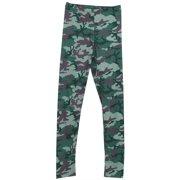 Camouflage Camo Green Woodland Pattern Womens Leggings
