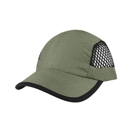 - J7699 Nylon Oxford & Mesh Baseball Cap, Olive