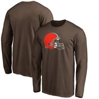 28e7be385 Product Image Men s NFL Pro Line Brown Cleveland Browns Primary Logo Long  Sleeve T-Shirt