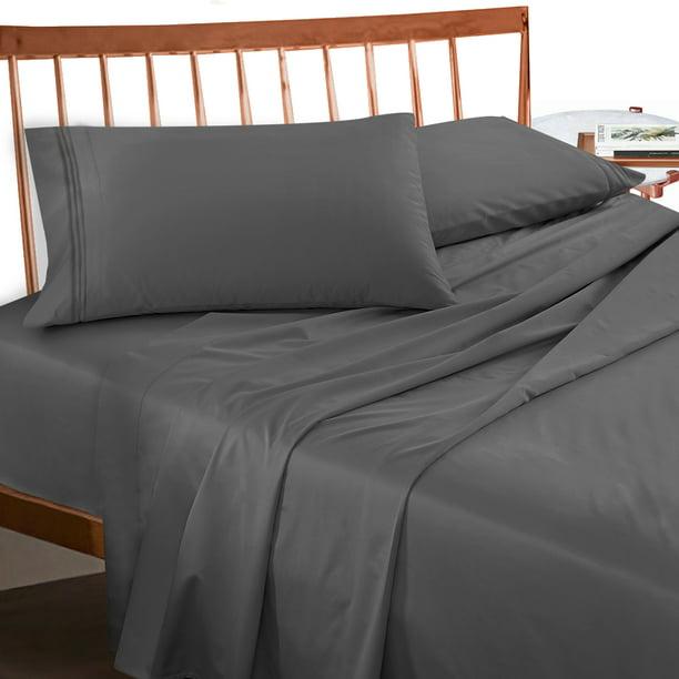Empyrean Bedding Extra Deep Pocket 4 Piece Bed Sheet Set Hotel Luxury Soft Double Brushed Microfiber