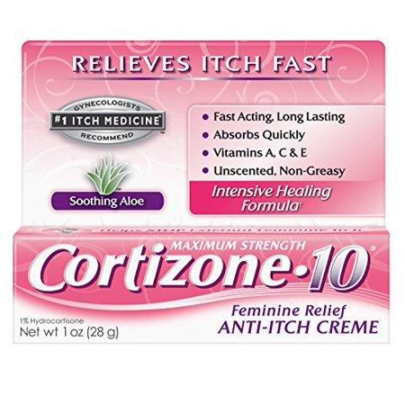 Feminine Relief - 6 Pack Cortizone 10 Feminine Relief Anti-Itch Hydrocortisone Creme, 1 Oz Ea