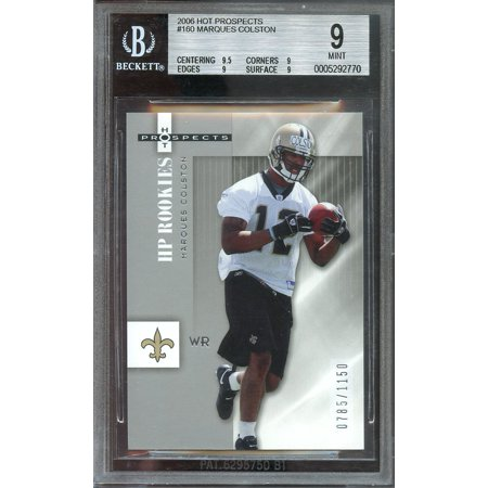 07 Hot Prospects Materials - 2006 hot prospects #160 MARQUES COLSTON saints rookie card BGS 9 (9.5 9 9 9)