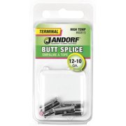 Jandorf 12-10 Ga. Insulated Wire Terminal Butt Splice 5 pk - Case Of: 1; Each Pack Qty: 5; Total Items Qty: 5