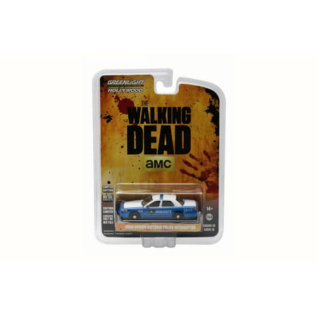 Walking Dead 2001 Ford Crown Victoria Police Interceptor - Greenlight 44730 - 1/64 Scale Diecast Model Toy Car