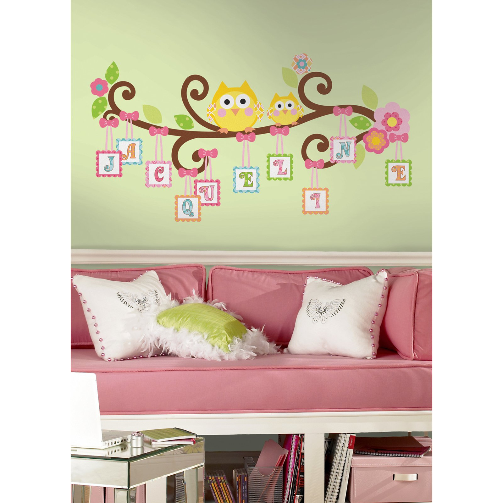 Happi Scroll Tree Letter Branch Peel U0026amp; Stick Giant Wall Decal    Walmart.com Part 71
