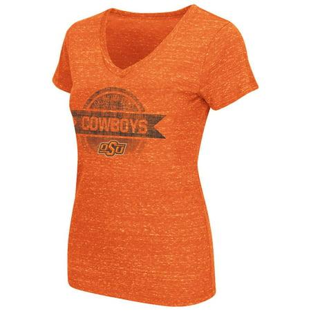 Womens Ncaa Oklahoma State Cowboys Short Sleeve V Neck Tee Shirt  Team Color