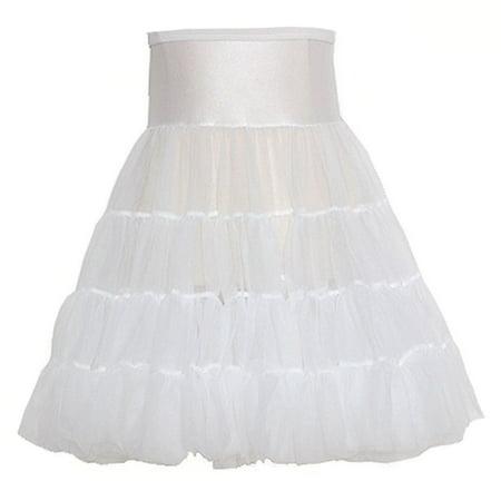 White Tea Length Bouffant Petticoat Baby Toddler Little Girls 12M-14](Girls Petticoat)