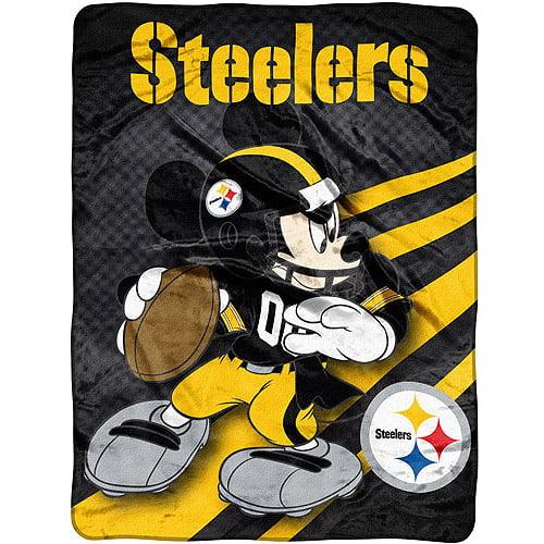 "Disney - NFL Rush 46"" x 60"" Micro Throw, Pittsburgh Steelers"