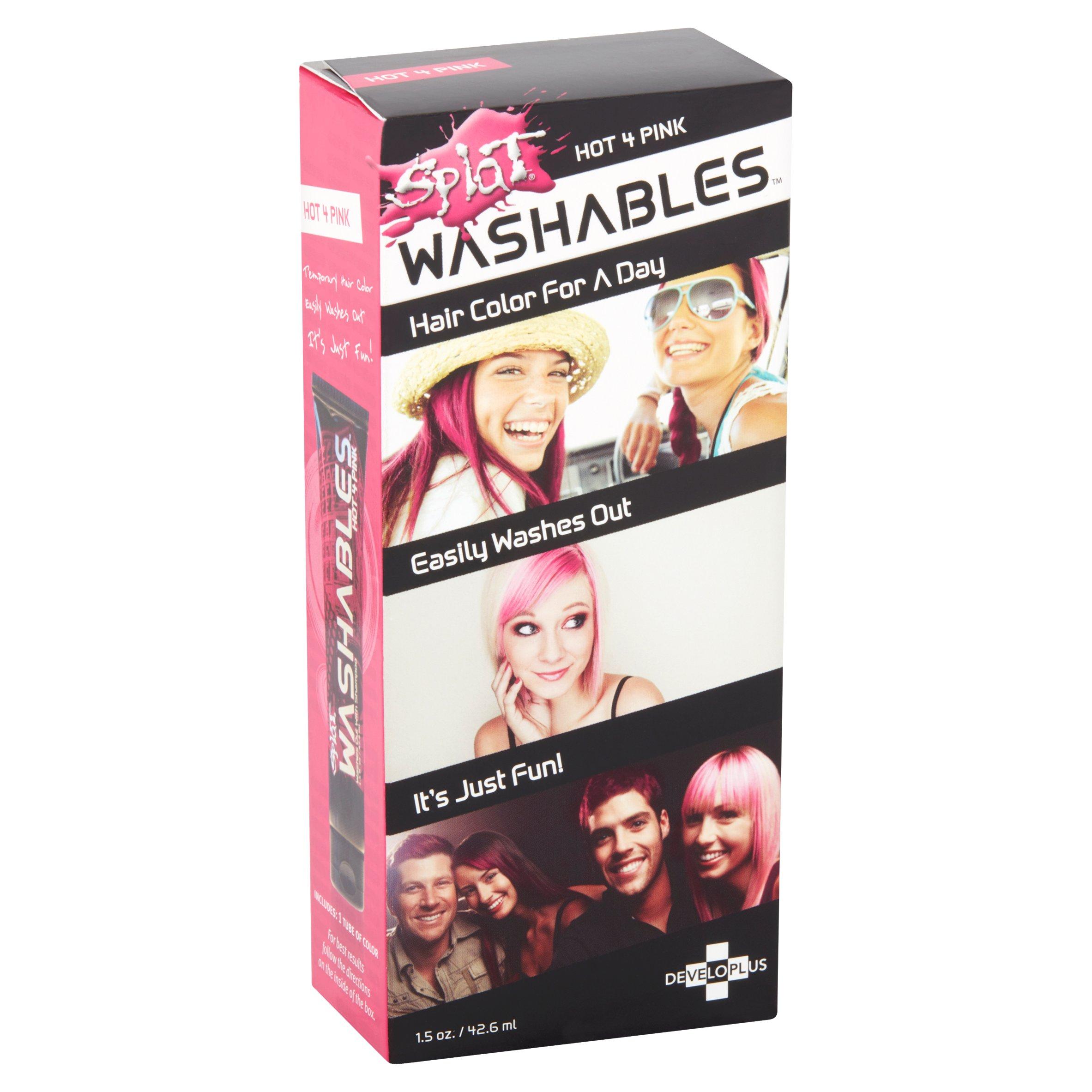 Developlus Splat Washables Hot 4 Pink Hair Color 15 Oz Walmart