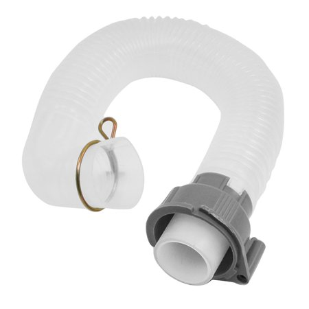 Home House 40cm Length Washer Plastic Flexible Drain Pipe Hose Tubing