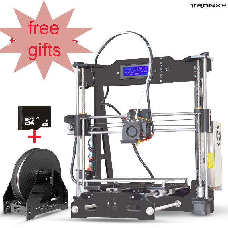 P802E 3D Printers LCD 2004A Display With Assembly Prints ABS,PLA and More 220 x 220 x 210mm