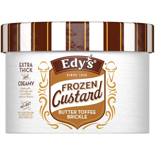 Edy's Butter Toffee Brickle Frozen Custard, 1 qt