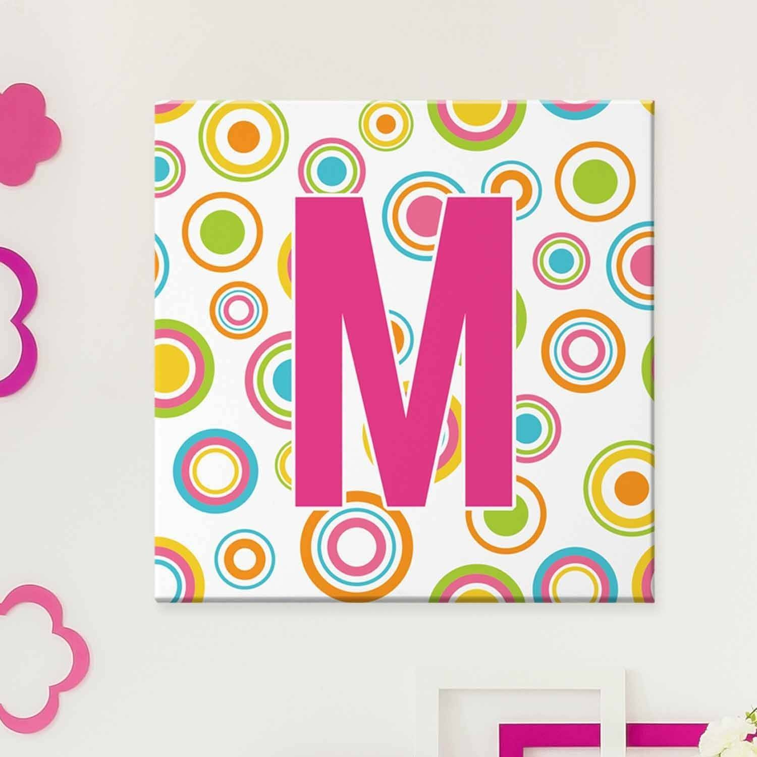 Personalized Circles of Fun Canvas, 16x16, Monogram