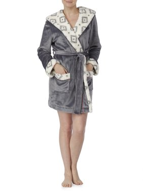 Product Image Secret Treasures Women s and Women s Plus Wrap Robe With  Fleece Lined Hood 8070aa057