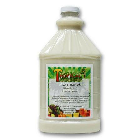 Pina Colada Frozen Drink Mix, Tropical Sensations, 1 bottle (64