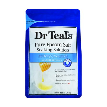 Dr Teals Epsom Salt Soaking Solution Soften Milk Honey Goat Milk Bath Salts