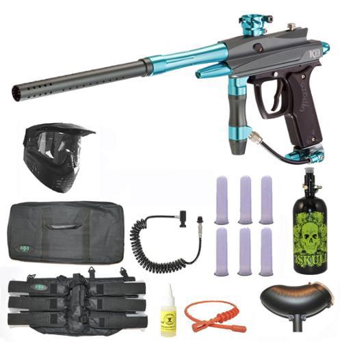 Azodin Kaos-D II Paintball Marker Gun 3Skull Nitro Sniper Set by