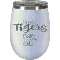 Memphis Tigers 12oz. Opal Wine Tumbler