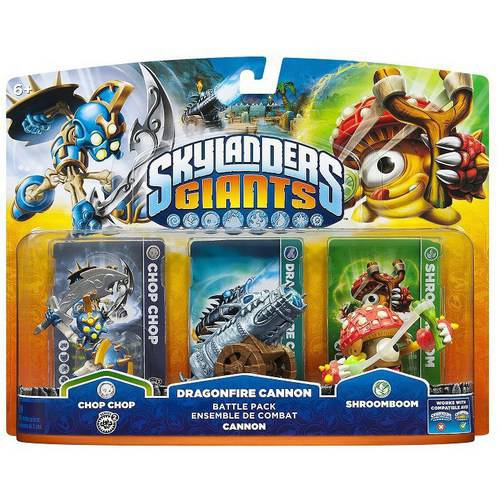 Skylanders Giants: Battle Pack #1 (Chop Chop, Dragonfire Cannon, Shroomboom - Universal)