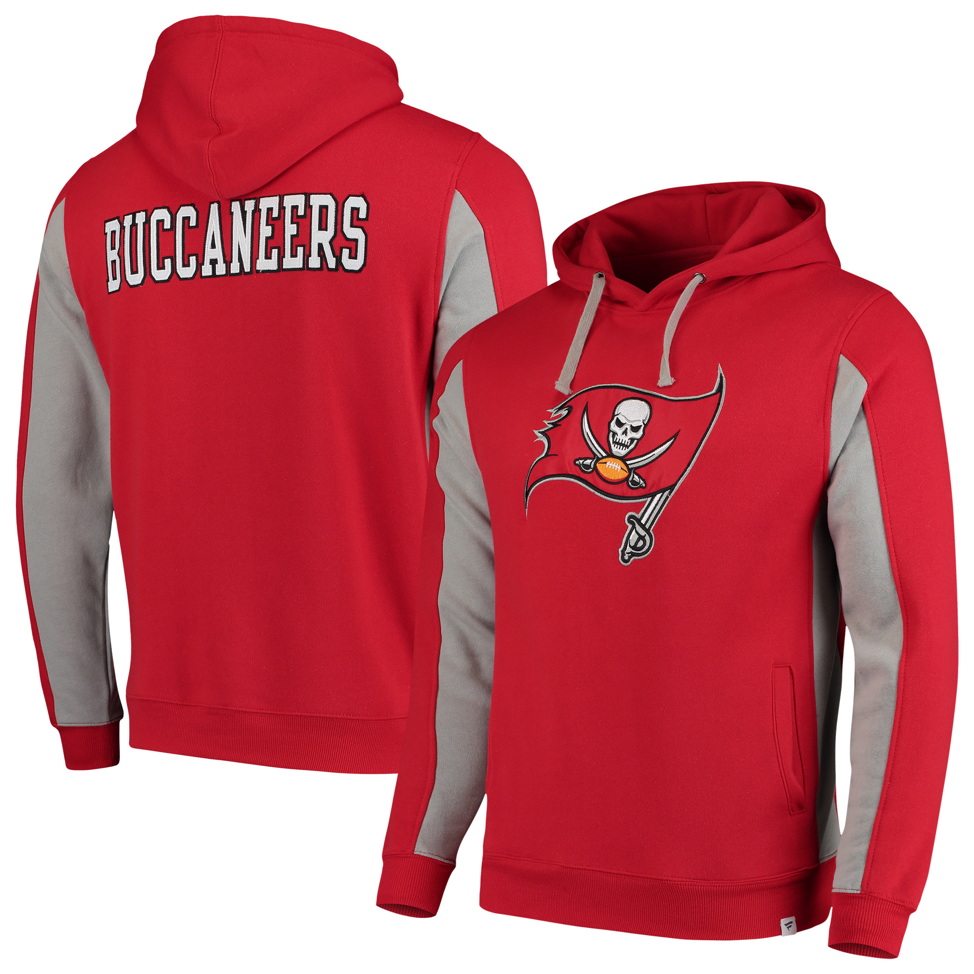 Tampa Bay Buccaneers NFL Pro Line by Fanatics Branded Team Iconic Pullover Hoodie - Red