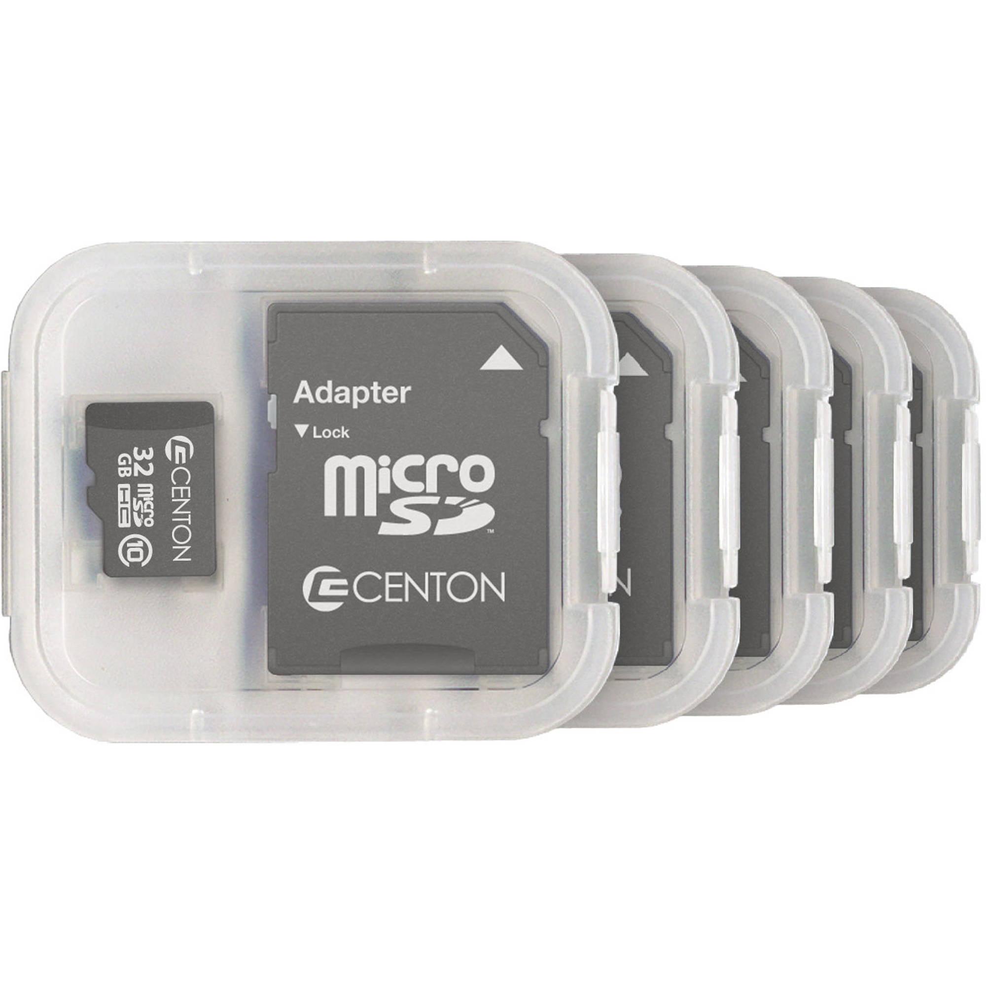 Centon MP Essential 32GB Class 10 microSDHC Card, 5pk