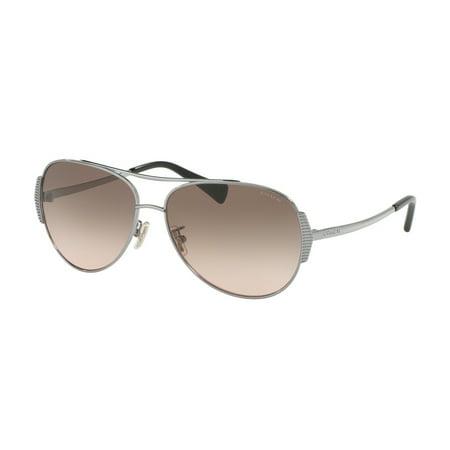 Coach Kids Sunglasses (Coach HC7067 930111 Gunmetal/Black Aviator)