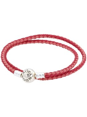 01ceeacb0 Product Image Mixed Pink Woven Double-Leather Charm Bracelet - 590747CPMX-D1