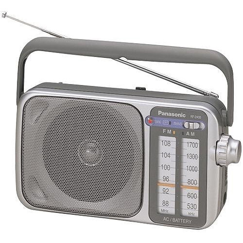 Panasonic All in One Compact Design Portable AM/FM Radio with Built-in Speaker, Earphone Jack, LED Tuning Indicator