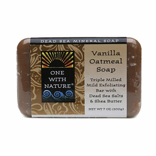 One With Nature Dead Sea Mineral Vanilla Oatmeal Bar Soap - 7 Oz