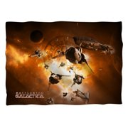 Battlestar Galactica Dog Fight Poly 20X28 Pillow Case White One Size