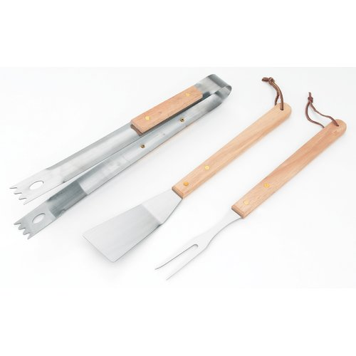 KitchenWorthy Barbecue 3-Piece Grilling Tool Set
