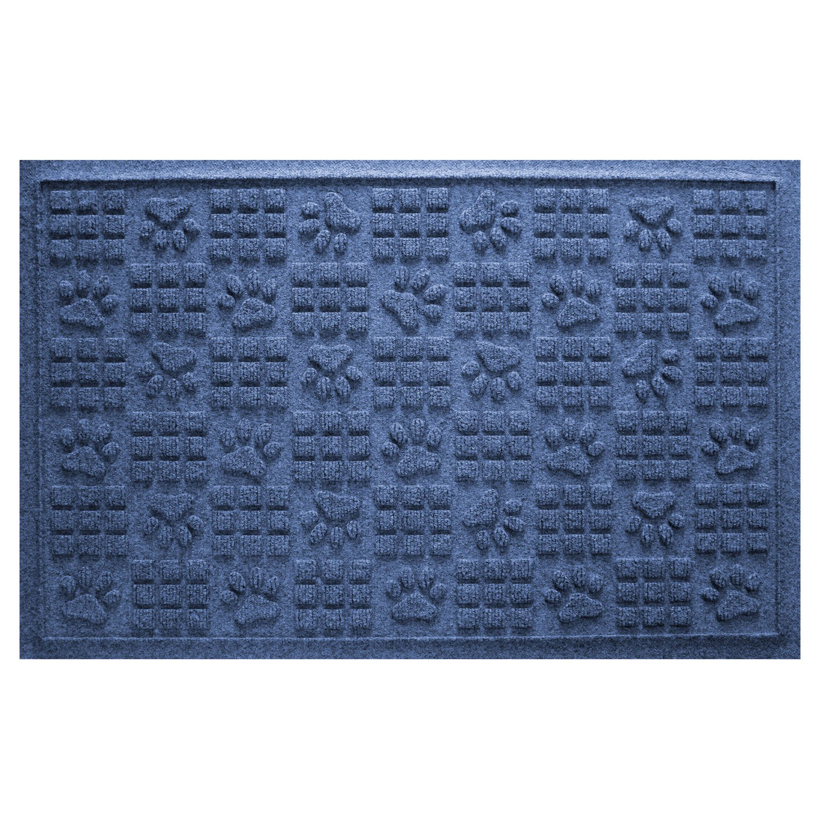 Bungalow Flooring Aqua Shield Dog Paw Squares Mat