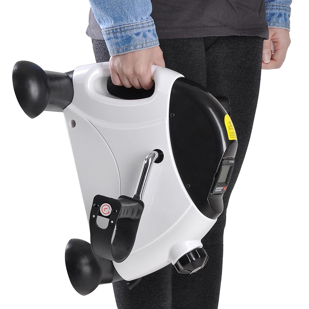 Mini V/élo dAppartement Musculation Fitness avec Ecran LCD ANGGO P/édalier Pliable Mini V/élo dexercice pour Entra/îner Les Bras Jambes Reprendre de lexercice avec Sangles et Coussin Antid/érapant