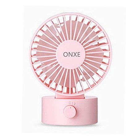 onxe quiet desk fan, small mini usb table desk desktop personal fan cooling for room office (2 speed modes dual blades simulate natural wind, high compatibility)