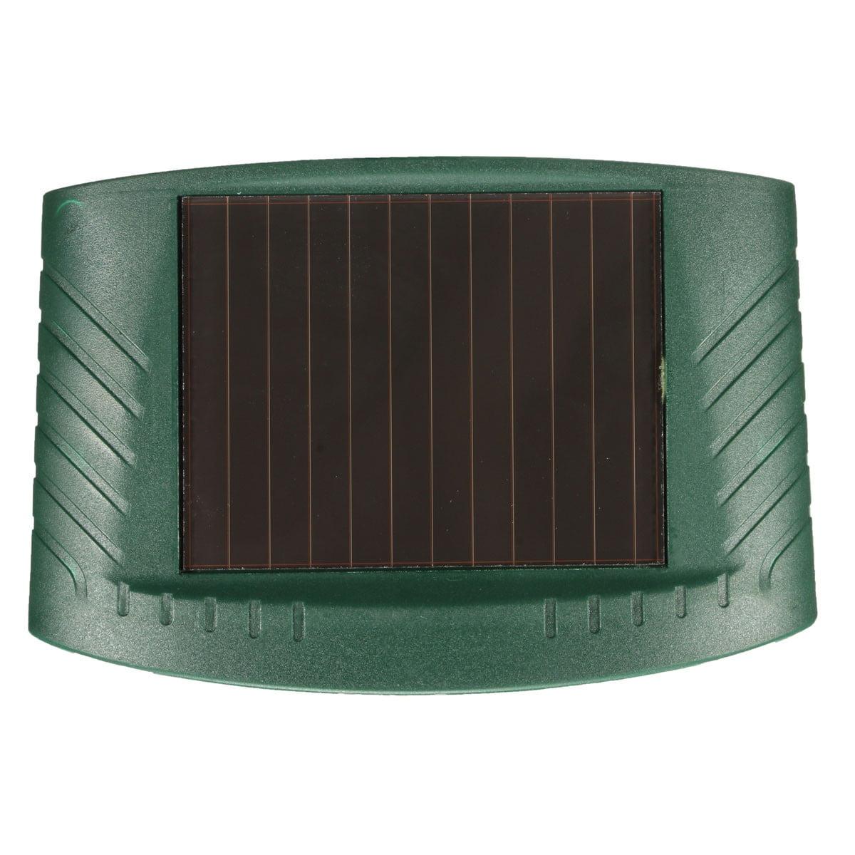 Solar Power Dog Cat Repeller Dual Ultra Sonic Ultrasonic Pir Powered Animal Scarer Infrared Sensor Yard Garden