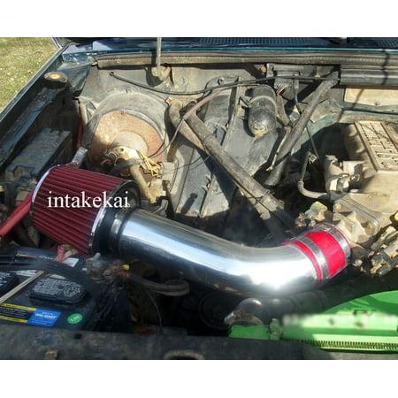 1988 Ford Ranger Bumper (Performance Air Intake for 1986-1990 FORD BRONCO II / 1986 1987 1988 1989 1990 1991 1992 FORD RANGER 2.9L V6 OHV ENGINE (RED))