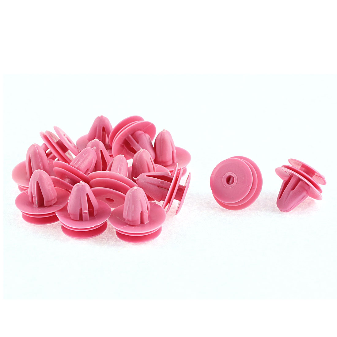15 Pcs 10mm x 7.5mm Hole Fuchsia Plastic Rivets Fastener for  Elantra