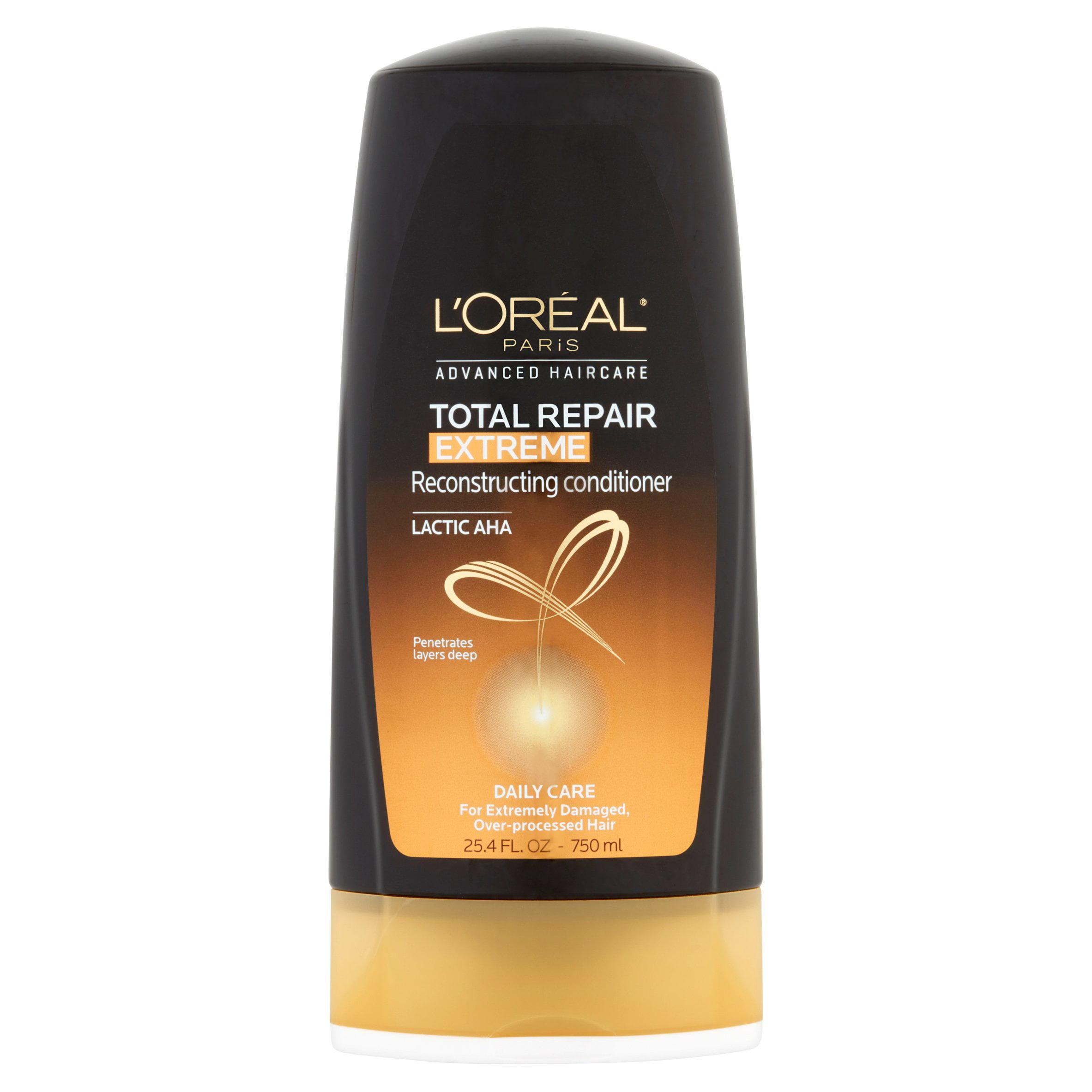 L'Oreal Paris Hair Expert Total Repair Extreme Reconstructing Conditioner 25.4 FL OZ - Walmart.com