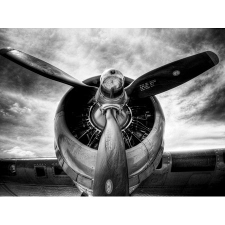 1945: Single Engine Plane Black and White Photography Transportation Print Wall Art By Stephen (Best Single Engine Plane For Long Distance)
