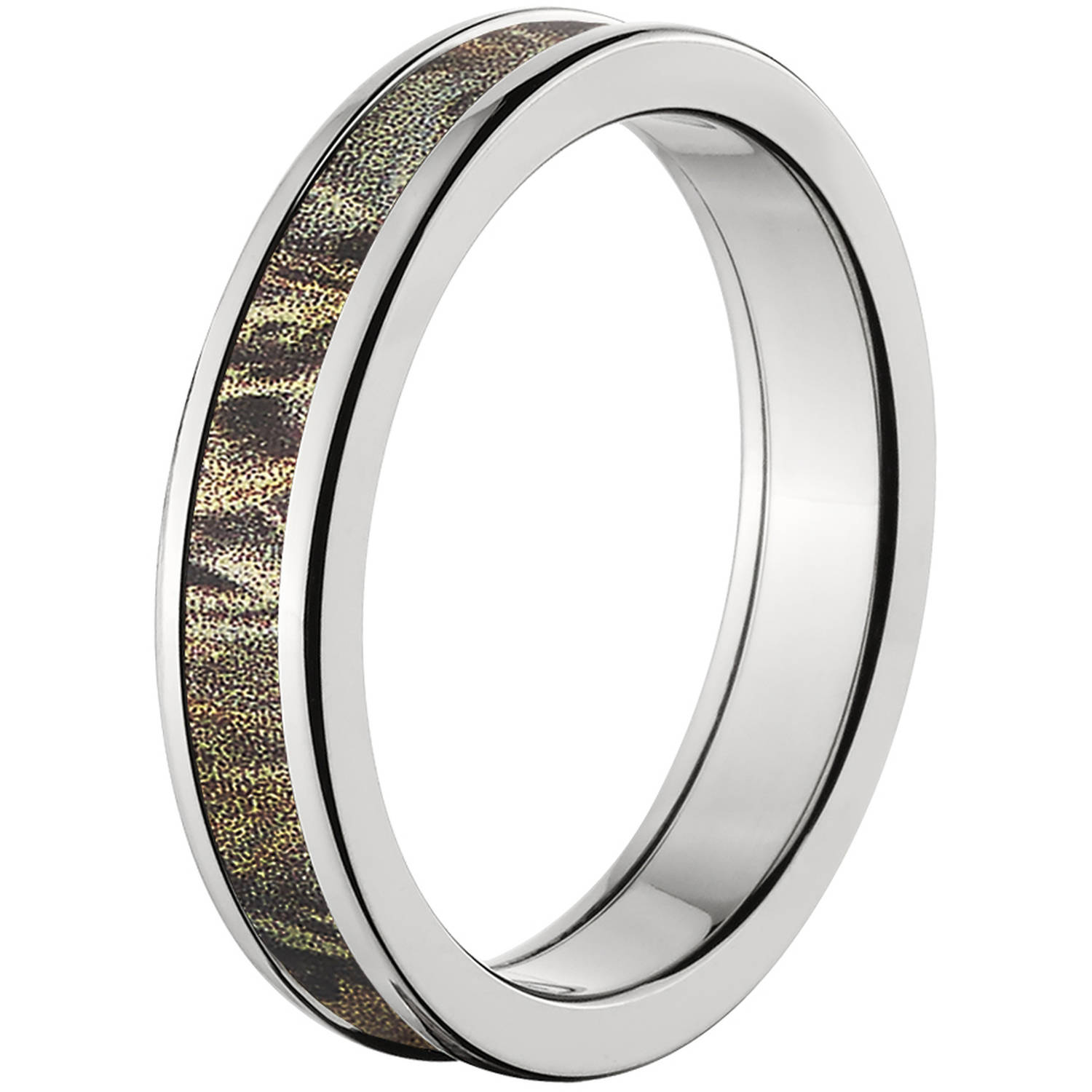 4mm Half Round Titanium Ring with a RealTree Max 4 Camo Inlay