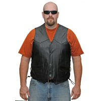 Mens Lace Side Leather Vest VL902 S