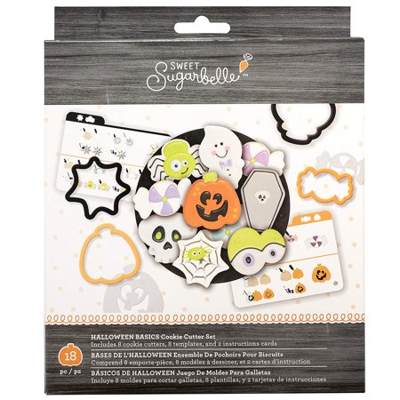 320119 Halloween Basics Cookie Cutters, Multi, Customize cookies: mix and match shapes and colors to create a custom spread By Sweet Sugarbelle - Finger Halloween Cookies