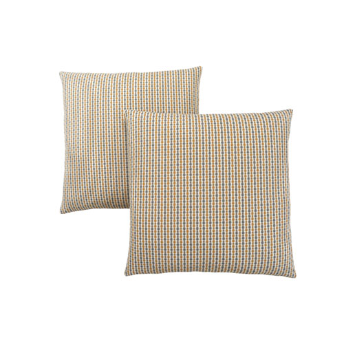 18-Inch Gold and Grey Abstract Dot Pillow- Set of 2