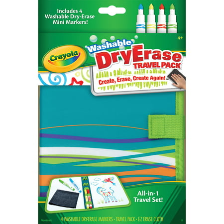 Crayola Dry-Erase Travel Pack Board & Washable Markers