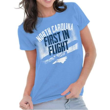 Brisco Brands North Carolina First In Flight Adult Short Sleeve T-Shirt](Halloween North Carolina)