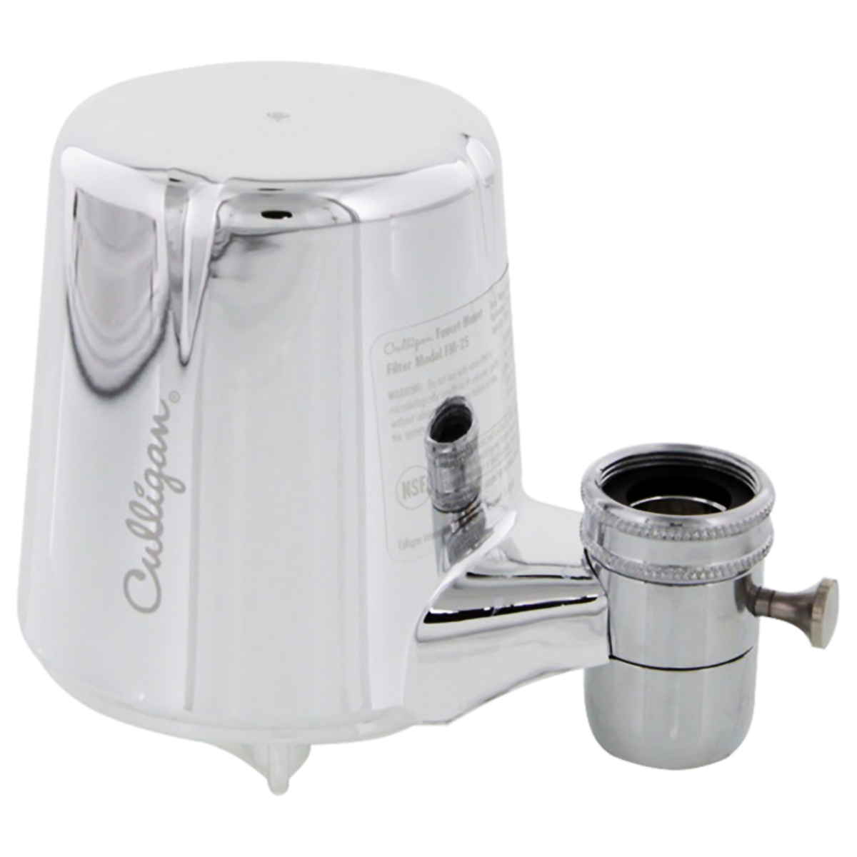 Culligan FM-25 Chrome Faucet Mount With Advanced Water Filtration