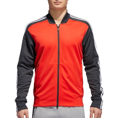 0c0403a98 adidas Mens Sport ID Track Mixed Bomber Jacket - Walmart.com